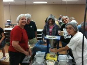 Packing food at FMSC.